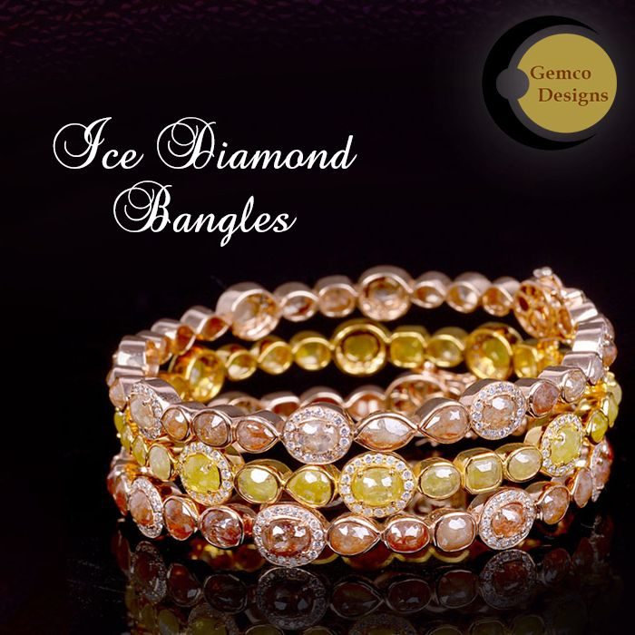 Add Spark to your personality with #IceDiamondBangles. Visit #GemcoDesigns to ch...