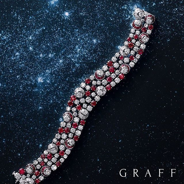 Celestial symphony 300 rubies and diamonds have been intricately set by hand by ...