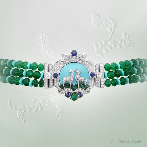 "Clasp of Van Cleef & Arpels Biches necklace, ""Peau d'Âne raconté par Van C..."