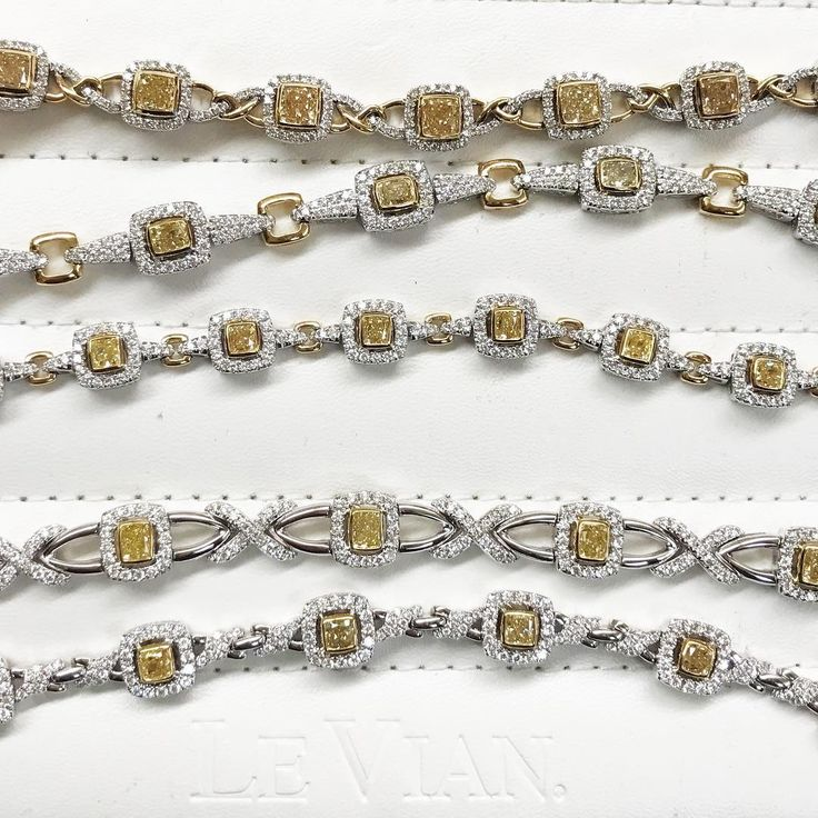 Hello sunshine! #LeVian Couture natural Sunny #Yellow #Diamonds #bracelets...❤...