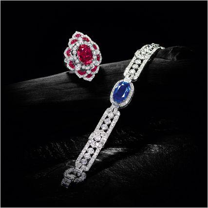 Important Kashmir Sapphire and Diamond Bracelet, Cartier