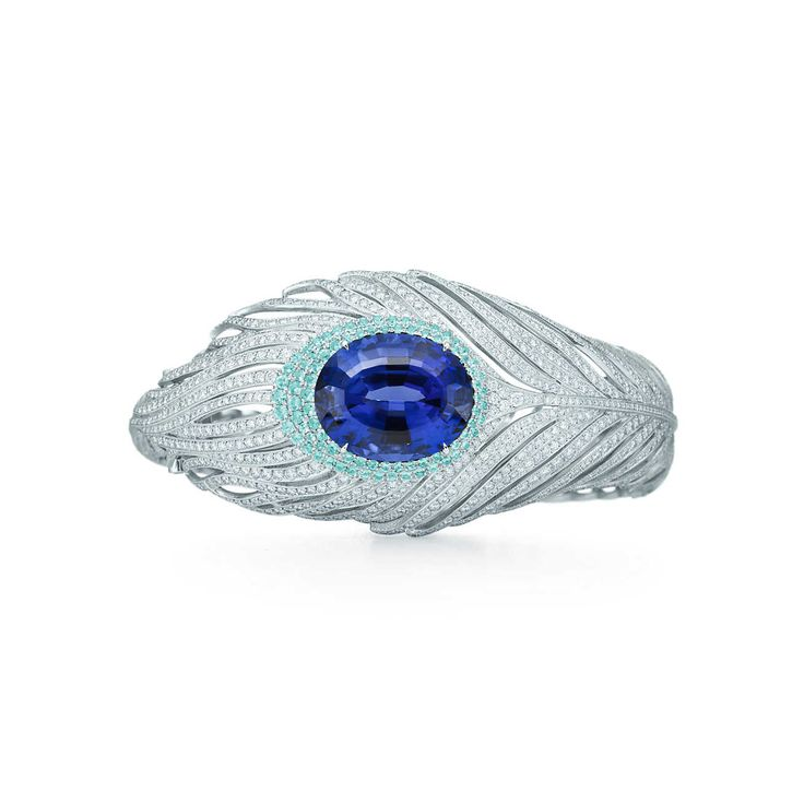 Tanzanite peacock bracelet