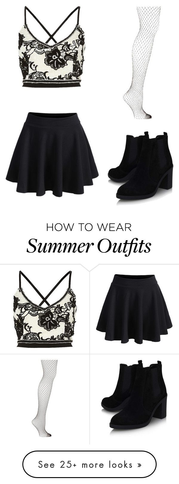 "d5499a0fcbfa ""Classy black and white summer outfit"" by alexking2456 on Polyvore featuring  WithChic, Emilio Cavallini and Topshop"