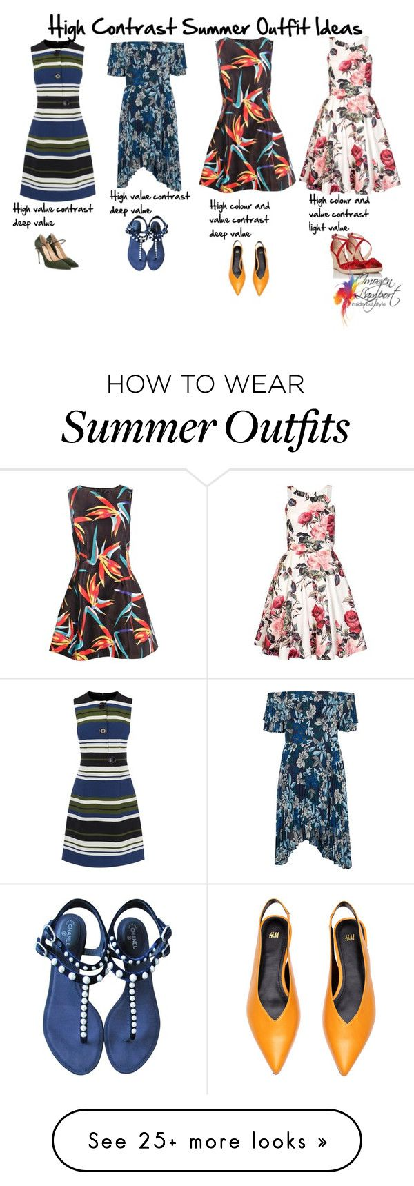 """18e2b7c5c93 Summer Outfits   """"high contrast summer outfits"""" by imogenl on Polyvore  featuring Karen Millen"""