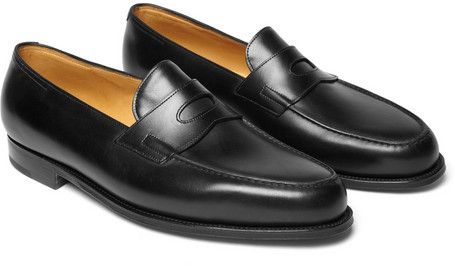 Black Leather Loafers by John Lobb. Buy for $1,225 from MR PORTER