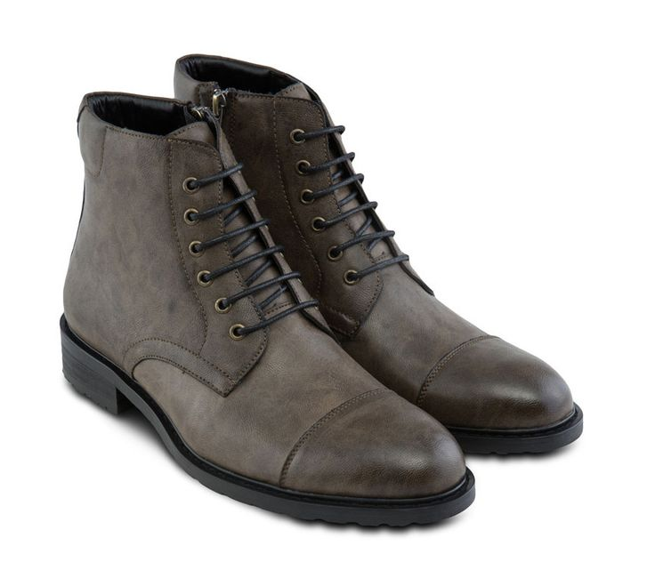 Boots is always be a timeless shoes like this Faux leather boots by Zalora, www....