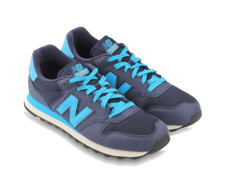 New Balance. Blue sneakers with leather patch,  www.zocko.com/...