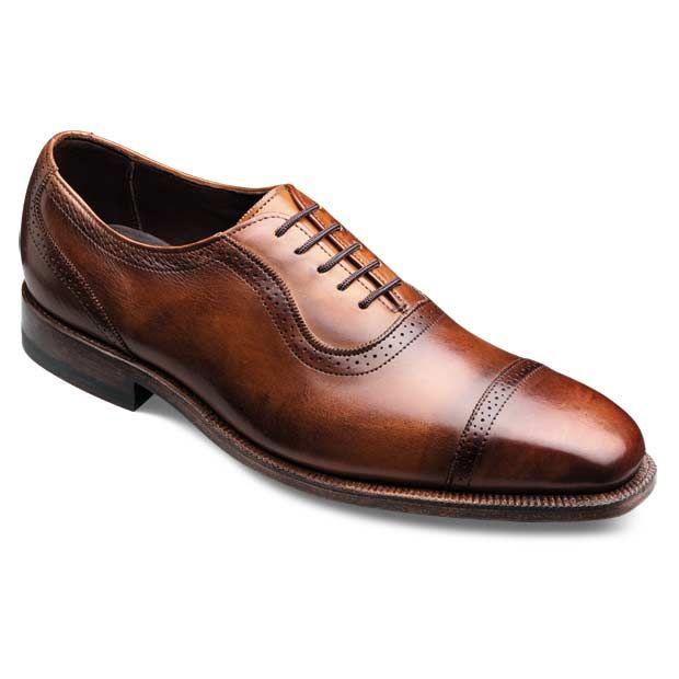 RUTLEDGE - Plain-toe Lace-up Mens Dress Shoes by Allen Edmonds in Walnut Burnish...