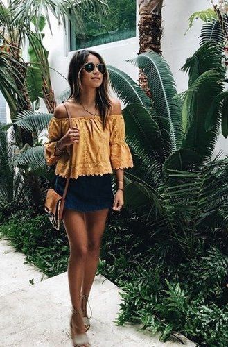 A beautiful off the shoulder top is perfect for an easy vacation loo. Let Daily ...