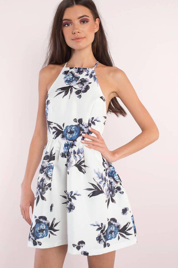 Dolled Up Floral Print Dress
