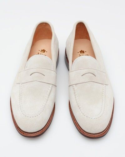 Stuff We Like: Alden for Need Supply Co. White Suede Loafer
