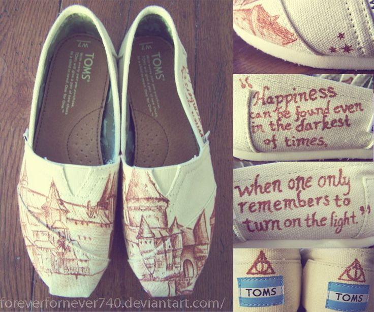 Harry Potter TOMS. I WANT THESE!