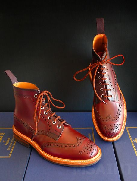 Tricker's Oxblood Country Boots