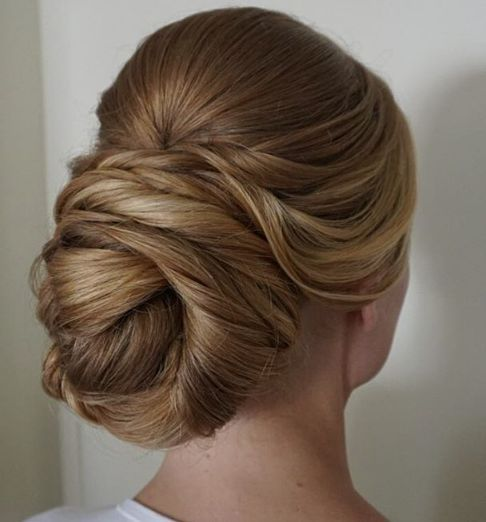 Twisted Low Updo Wedding Hairstyle - MODwedding