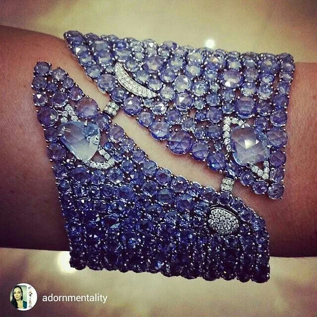 repost from Adornmentality Check out this stunning #sapphire #cuff by @ethomaria...