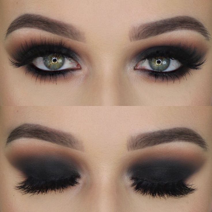 Haven't done a black smokey eye in forever ------ Anastasia Beverlyhills Bro...