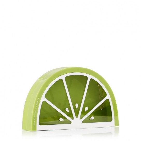 Clutch limone verde Charlotte Olympia