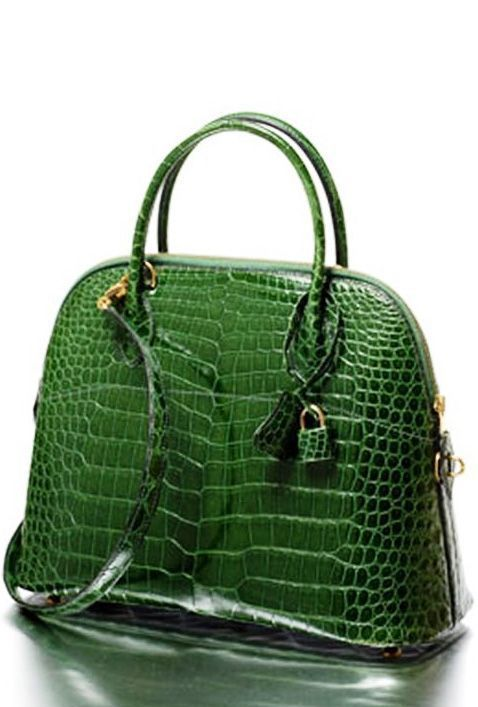 Green Crocodile Bag