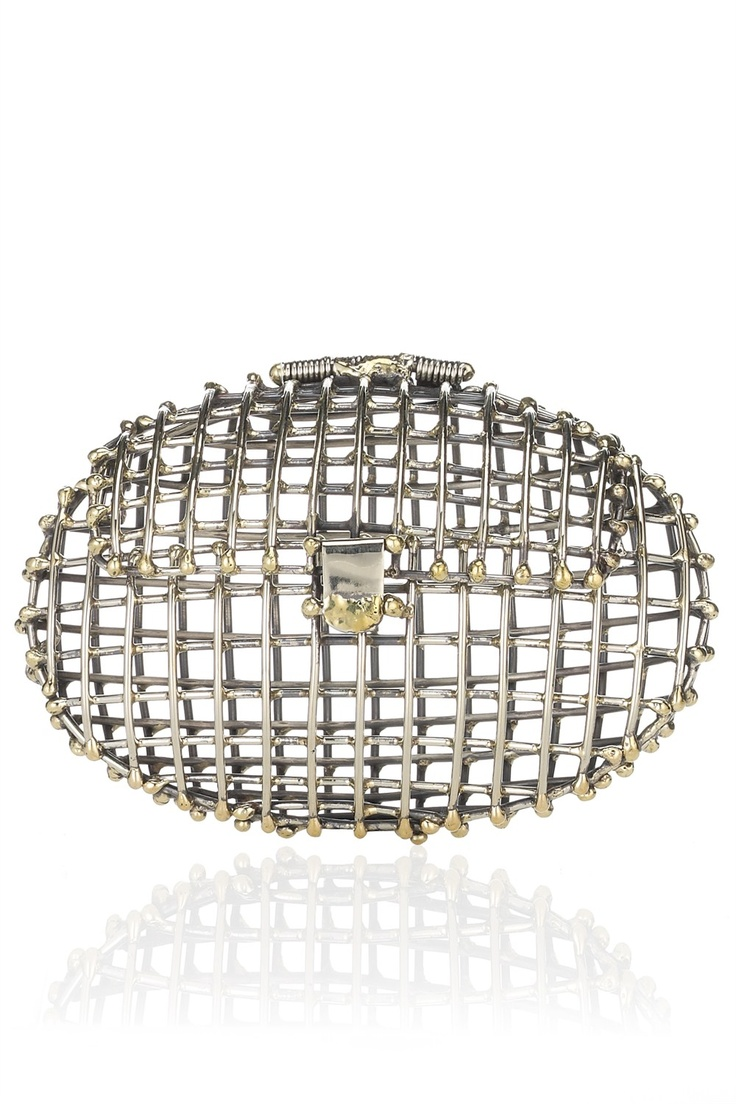 Oval Open Cage Clutch | Anndra Neen