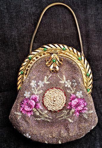 Pre-1901 (Victorian & Older) Color: beaded Vintage Type: True Vintage Material...