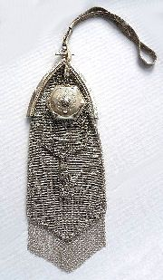 Whiting and Davis Silver Double Mesh Purse
