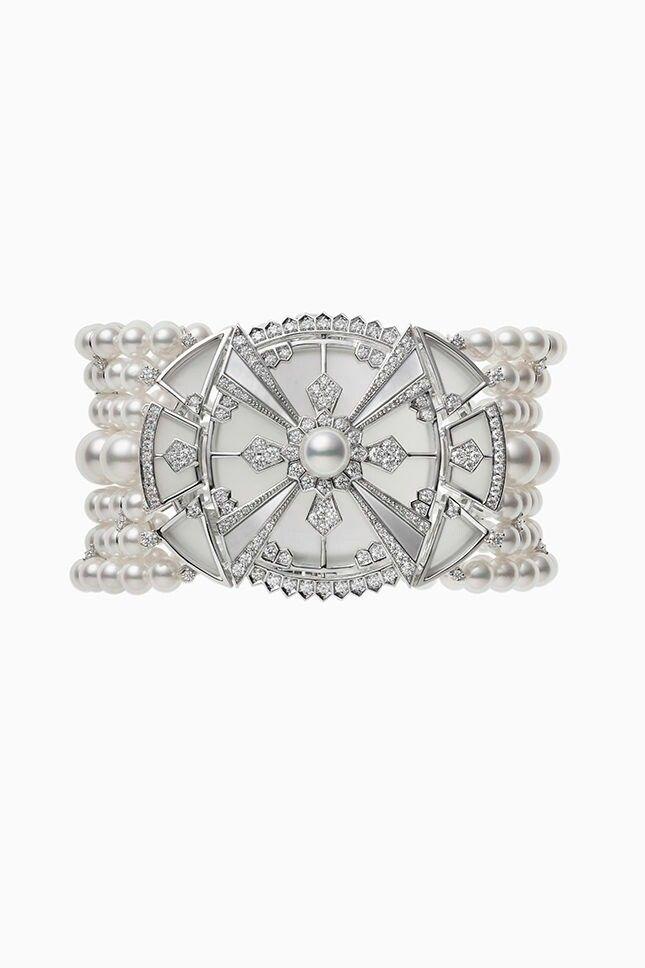 125th Anniversary collection by Mikimoto, Diamond, rock crystal and diamond brac...