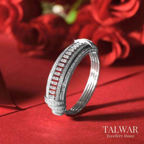 Baguette Diamond Bracelet by Talwar Jewellery House #diamondbracelet