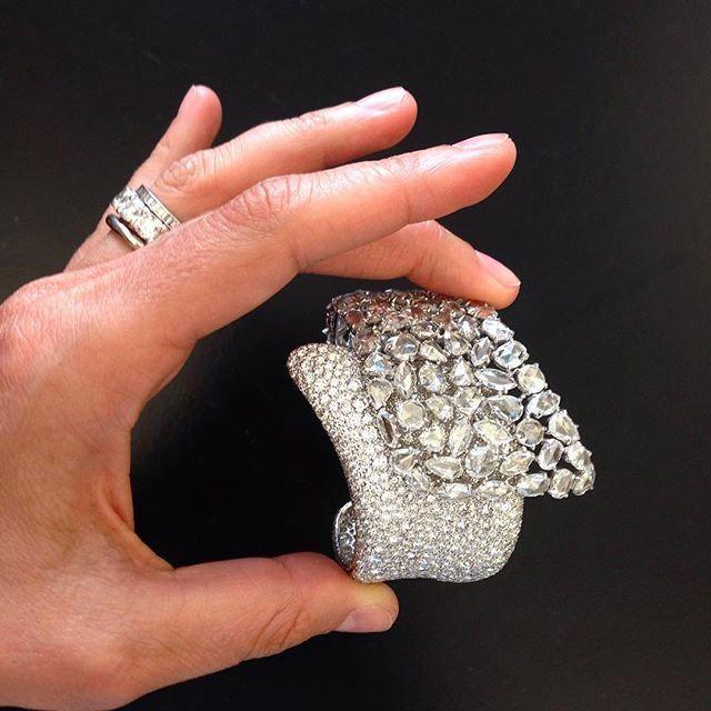 Diamonds cuff bracelet #spigauno #finejewelry #highjewelry #diamonds… #elegant...