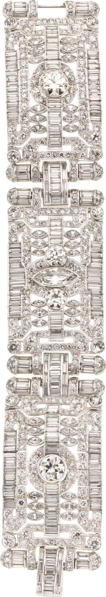 Luxury Estate Platinum Diamond Bracelet. |Classy & Elegant | @nyrockphotogirl