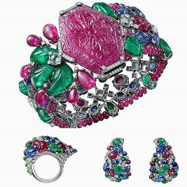 Résonances de Cartier high jewellery collection, 2017 ~ Tutti Frutti bracelet, ...