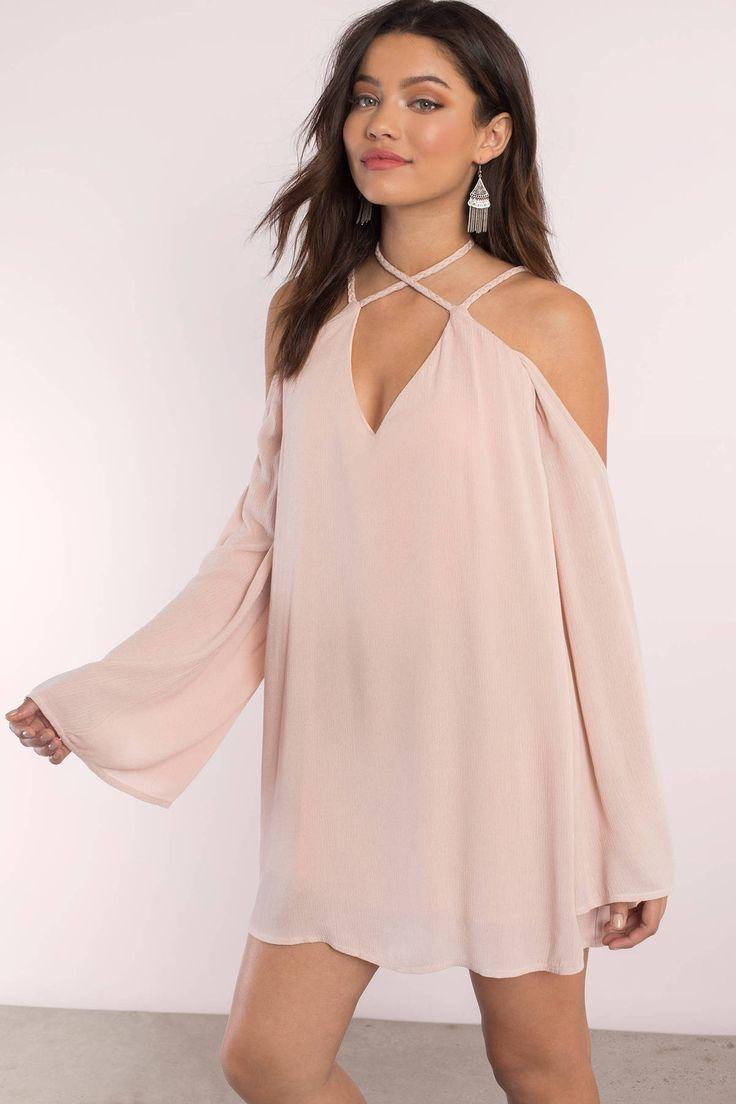 Vanessa Cold Shoulder Shift Dress