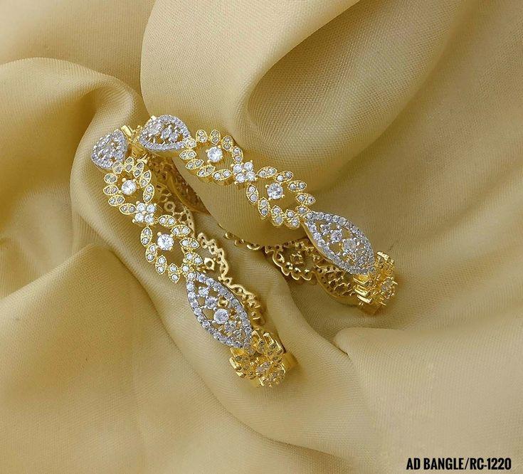 American Diamond Wedding Bangles. Party Wear Bangles. Rama Creations Manufacture...