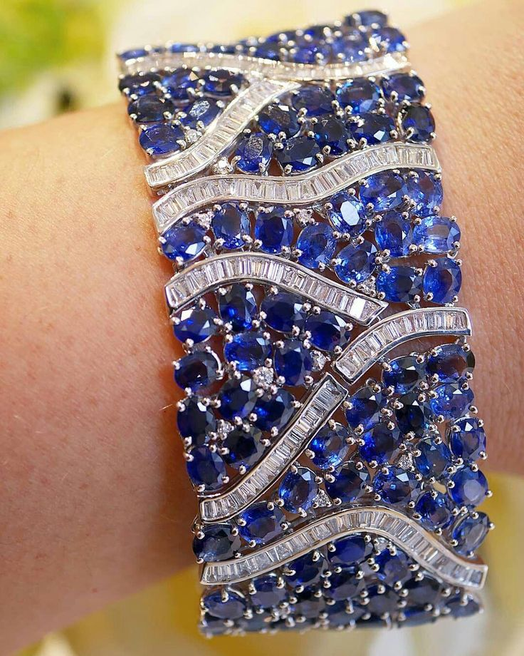 Diamond and sapphire cuff by DJULA. Outrageous and provocative, Alexandre Corrot...