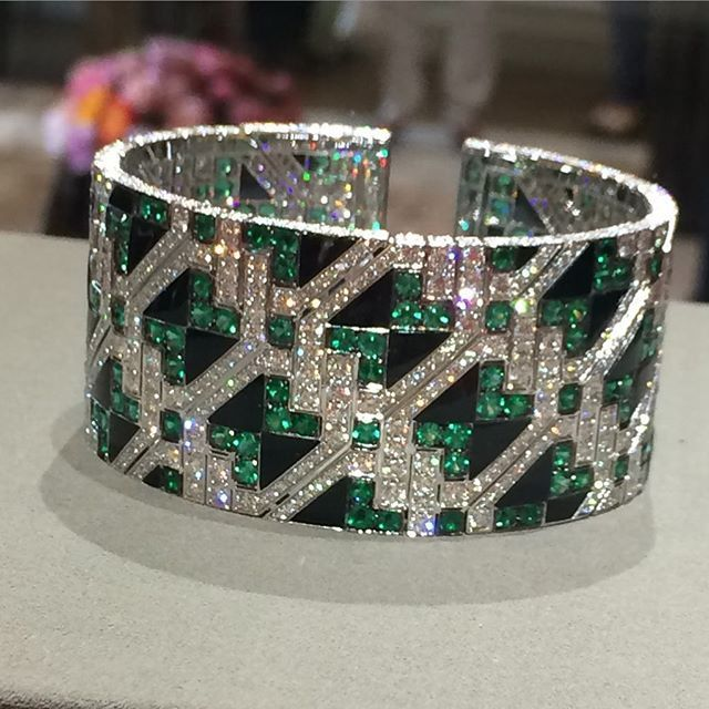 Giampiero Bodino Important Emerald and Diamond Cuff Bracelet | Saved for Future...
