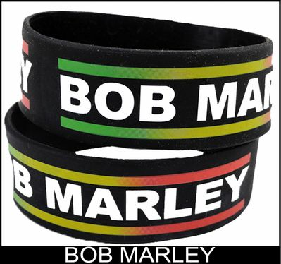 Bob Marley Rubber Saying Bracelet