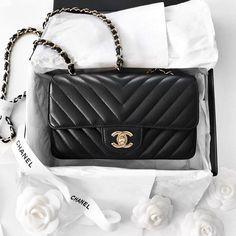 Chanel Chevron Mini Flap bag  |  pinterest: Blanca Z.