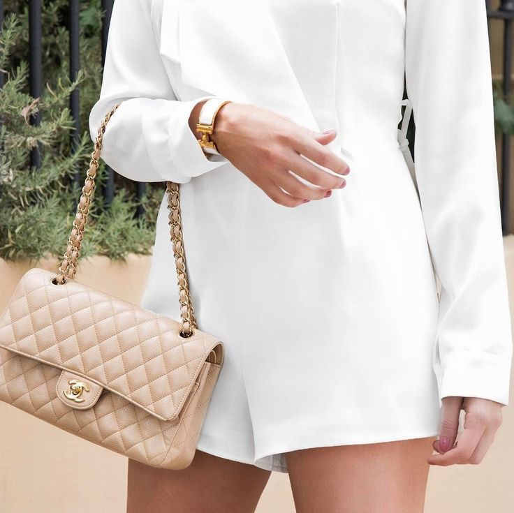 Chanel beige handbag, Classic accessories, white on white, Hermes click clack, n...