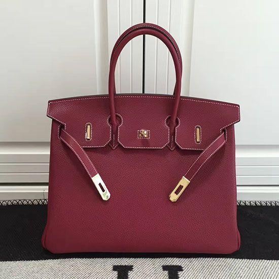 Hermes Birkin 35 Tote Bag in Fuchsia Togo Leather HB1210