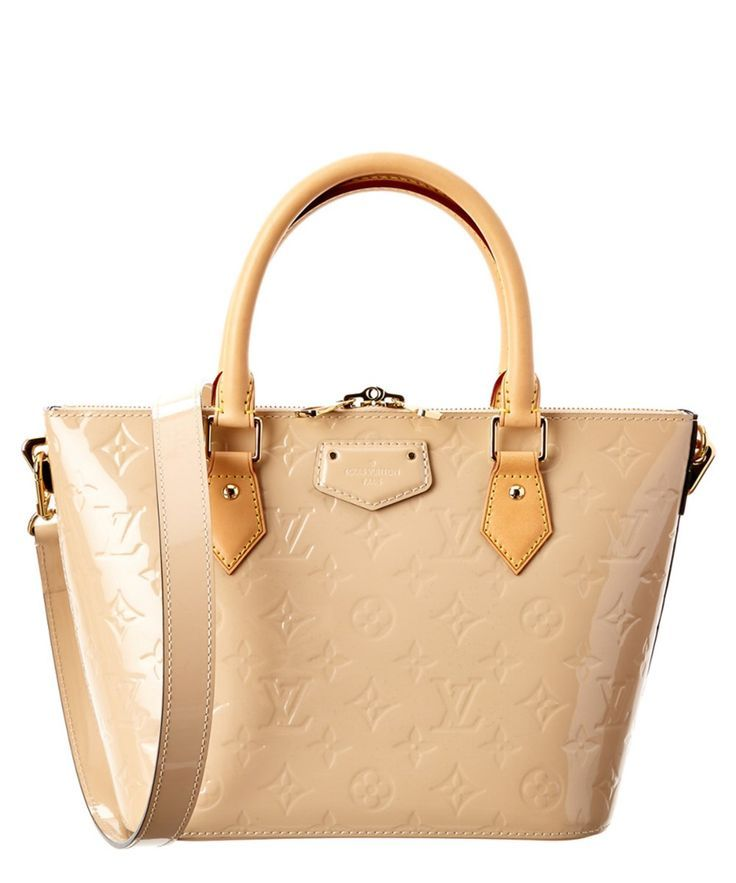 LOUIS VUITTON Louis Vuitton Beige Monogram Vernis Leather Montebello Pm'. #louis...