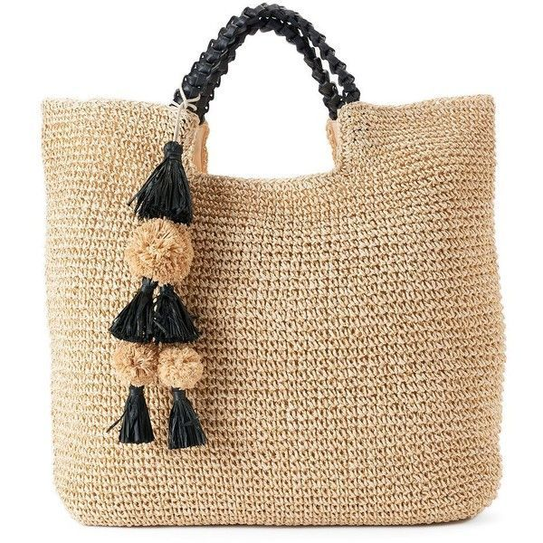 SONOMA Goods for Life™️ Lindsay Straw Tote (1,930 INR) ❤️ liked on Polyv...