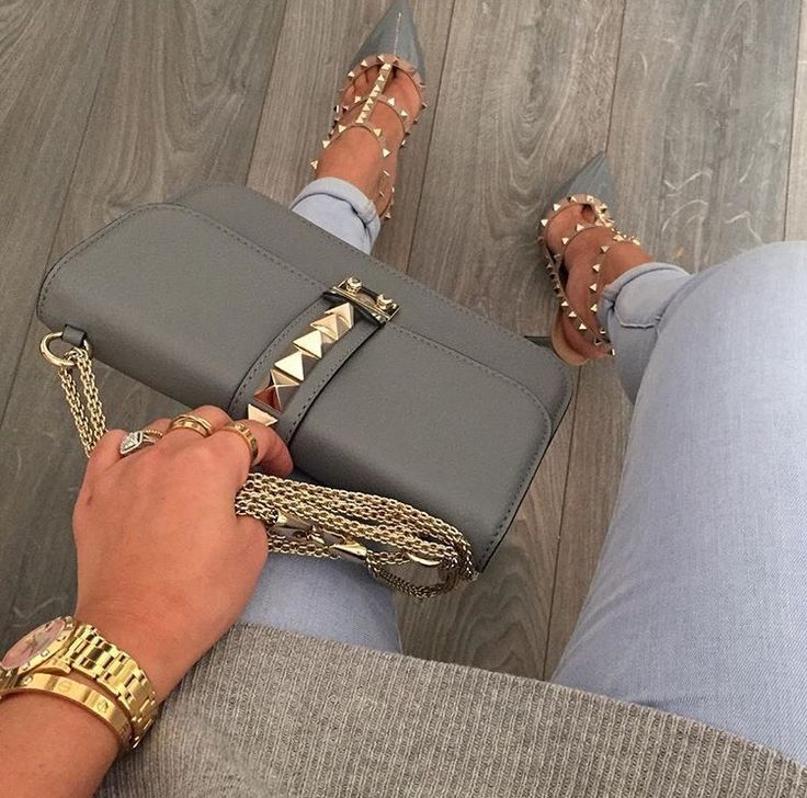 Valentino Rockstud bag and heels