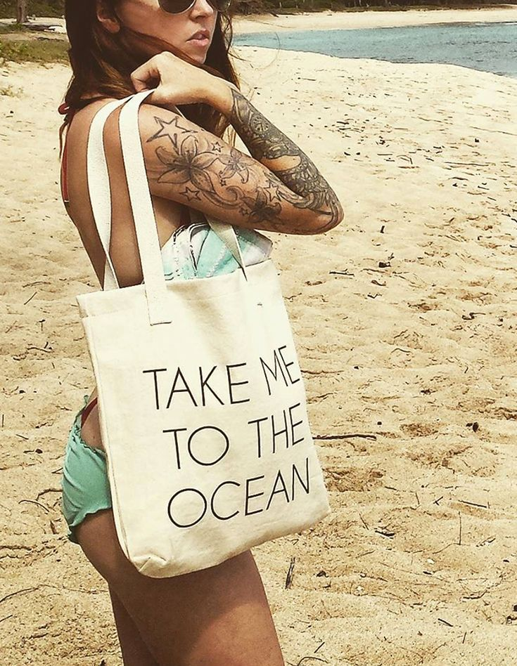 A simple sentiment shared by many. Perfect for the beach (obviously) or farmers ...