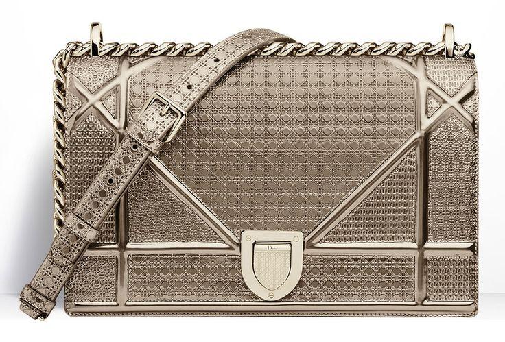 Christian-Dior-Diorama-Gold-Metallic-Mini-Cannage-Bag