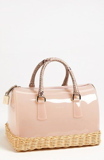 Does this bag look fun or what?  Love the texture.  Furla 'Candy' Rubber Satchel...
