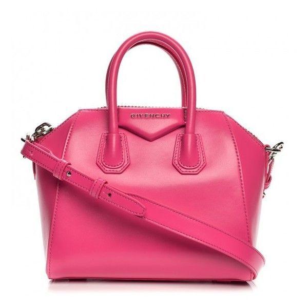 GIVENCHY Shiny Lord Calfskin Mini Antigona Shocking Pink ❤️ liked on Polyvor...