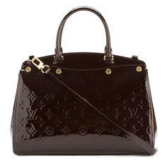 Louis Vuitton Amarante Monogram Vernis Leather Brea MM Bag (Pre Owned)