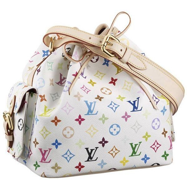 Louis Vuitton Monogram Multicolore Petit Noe M42229 Blanc