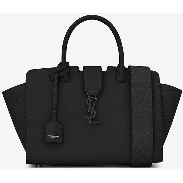 Saint Laurent Baby Monogram Saint Laurent Downtown Cabas Ysl Bag ($1,685) ❤️...