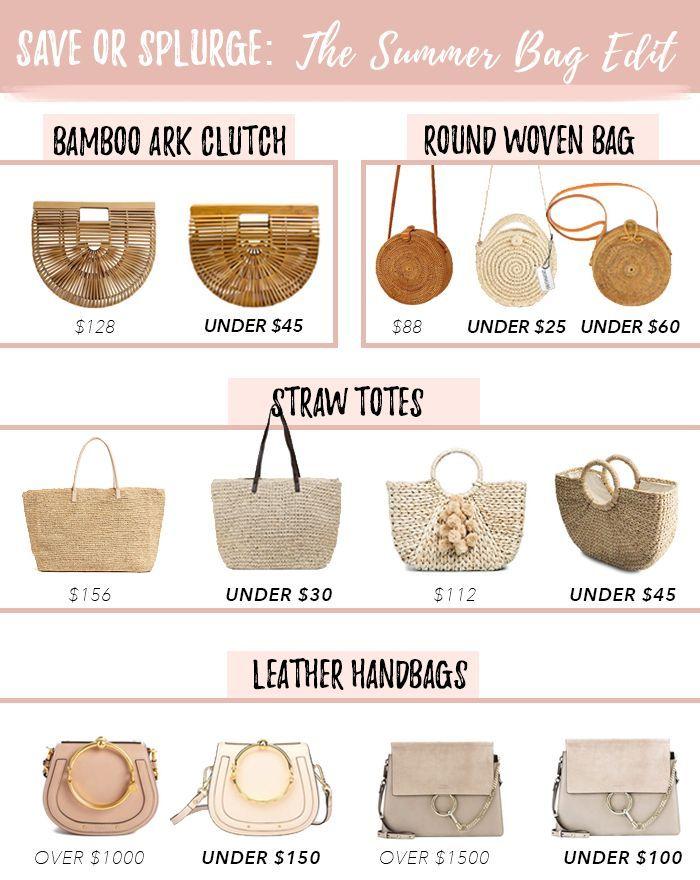 Save or Splurge Summer Bag Must-Haves