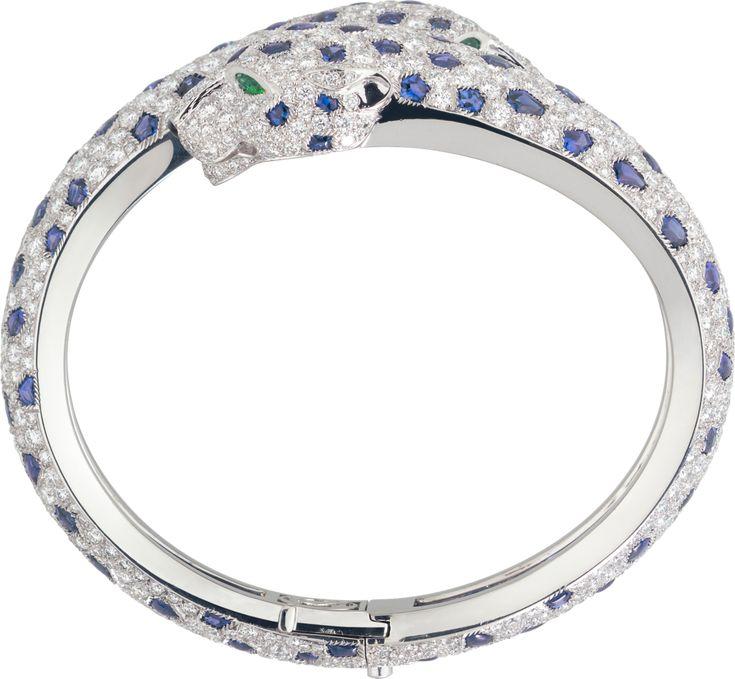 Panthère de Cartier braceletPlatinum, sapphires, emeralds, onyx, diamonds